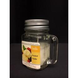 Bicchiere vetro con manico e candela gusto VANIGLIA. CM 6