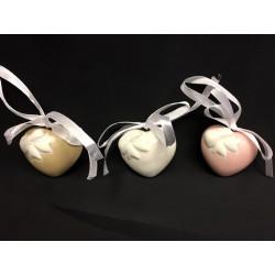 Cuori ceramica da appendere con nastro. CM 4.5x4