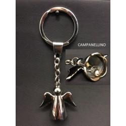 Portachiavi metallo con angioletto campanellino. CM tot 10