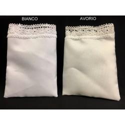 Sacchetto tessuto coprente con pizzetto. CM 9.5x13