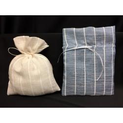 Sacchetto tessuto tipo lino con tirante. CM 14x18