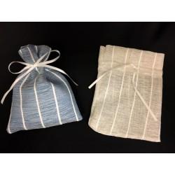 Sacchetto tessuto tipo lino con tirante. CM 10.5x14
