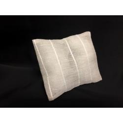 Sacchetto bustina tessuto lino tipo cotone. CM 9x10