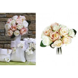 Bouquet 12 rose tessuto