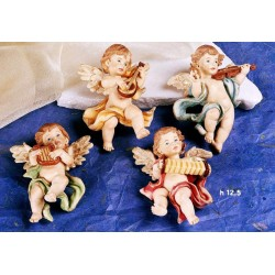 Angeli suonatori in resina da appendere ass. 4 cm 12.5