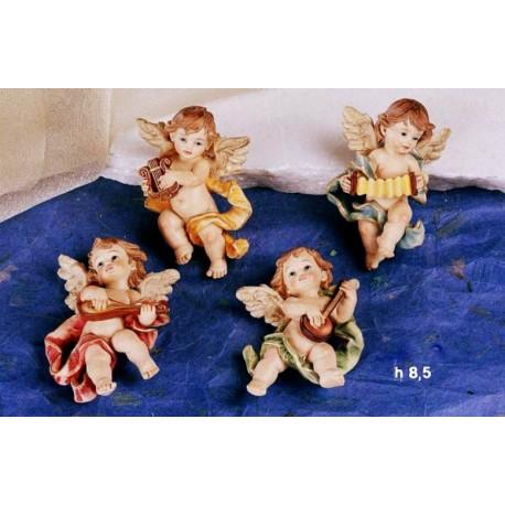 Angeli suonatori in resina da appendere ass. 4 cm 8.5