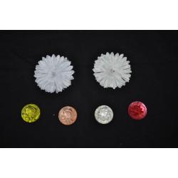 Applicazioni plastica con rosa rilievo effetto 3D. Diam.3