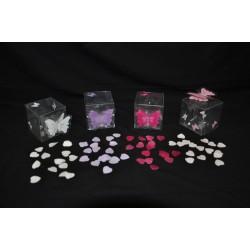 Scatoline pvc porta confetti con decorazione a farfalla colori a scelta CM 4x4x4