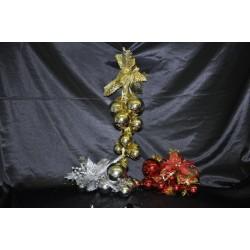 Decorazioni natalizie con 10 palline cm. 48