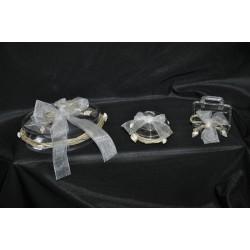Valigetta plexiglas portaconfetti con conchiglie cm.6x5