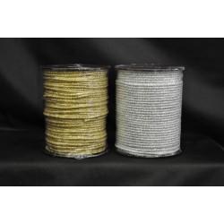 Cordone tre capi oro o argento lurex MT 50