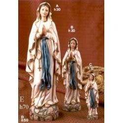 Statua resina Madonna Lourdes H. 12