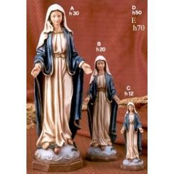 Statua resina Madonna Immacolata H. 12