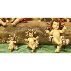 Bambinello resina con aureola dorata CM 12