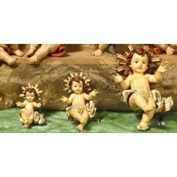 Bambinello resina con aureola dorata CM 26