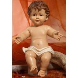 Gesù Bambino in resina (steso) H 34