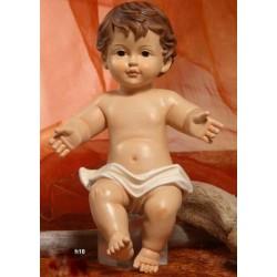 Gesù Bambino in resina (steso) H 16