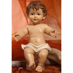 Gesù Bambino in resina (steso) H 21