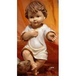 Gesù Bambino vestito in resina (steso) H 16