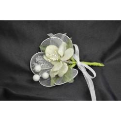 Fiore con petali ricoperti di perline e racchette cm 14