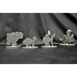 Animali in metallo con piedistallo H 8 L 8