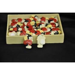 Set 24 coccinelle adesive con scatolina