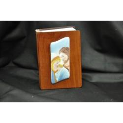 Vangelo copertina legno con placca ceramica 8x11