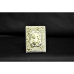 Icona marmo con placca comunione maschio 6x4