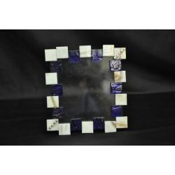 Portafoto vetro, pietre e strass tot. 16x14