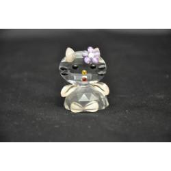 Gattino cristallo con fiore lilla