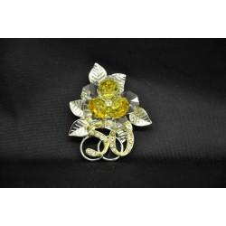 Fiore cristallo con base metallo 50° con scatola