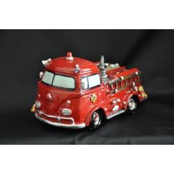 Salvadanaio camion dei pompieri cm.12 h.6