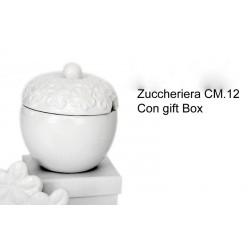 Zuccheriera porcellana cm.12 con scatola
