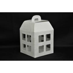 Scatola carta forma lanterna con interno pvc 12x12x16