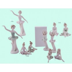 Ballerina in porcellana in piedi ass.2 (sx) con scatola (H.21)