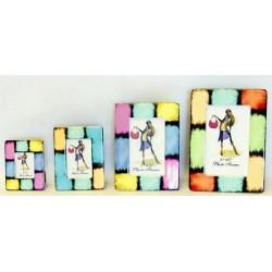 Portafoto resina scacchi 4x6