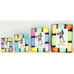Portafoto resina scacchi 9x13