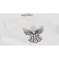 Segnalibro metallo angelo con nappa + scatola con fiocco