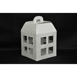 Scatola carta forma lanterna con interno pvc 10x10x13