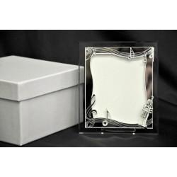 Portafoto vetro+plexi 8x10 con scatola