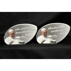 Preghiera di Papa Francesco su legno