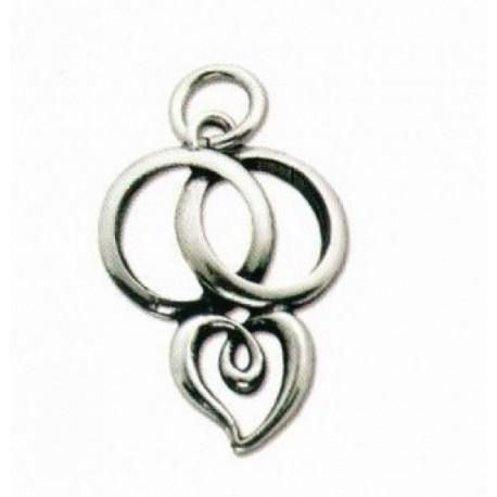 Ciondolo metallo e argento fedi intrecciate con cuore cm - Chiessi e fedi arredo bagno ...