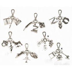 Portachiavi metallo e argento tris laurea (SOLO QUELLI CON LA X) cm 6x7 MADE IN ITALY