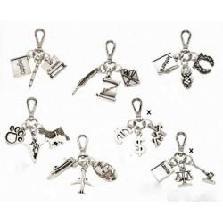 Portachiavi metallo e argento tris laurea (SOLO QUELLI CON LA X) cm 6x7