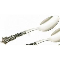 Cucchiaio acciaio con manico argento cm 21
