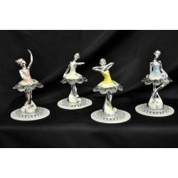 Ballerina argentata su base cristallo ass. 4 H 11 con scatola