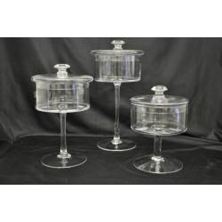 Potiche vetro con coperchio H. 32 DIAM 16 (misura media)