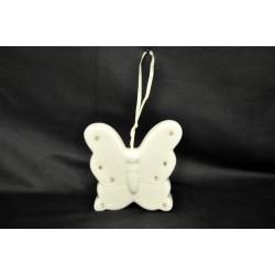 Campana in porcellana con strass forma farfalla8X9