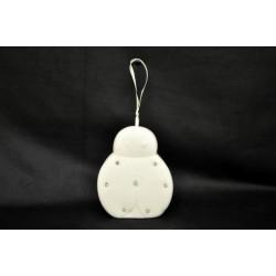 Campana in porcellana con strass forma coccinella 9X7
