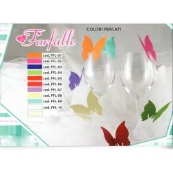 Farfalle in carta perlata cm 8x8 colori a scelta